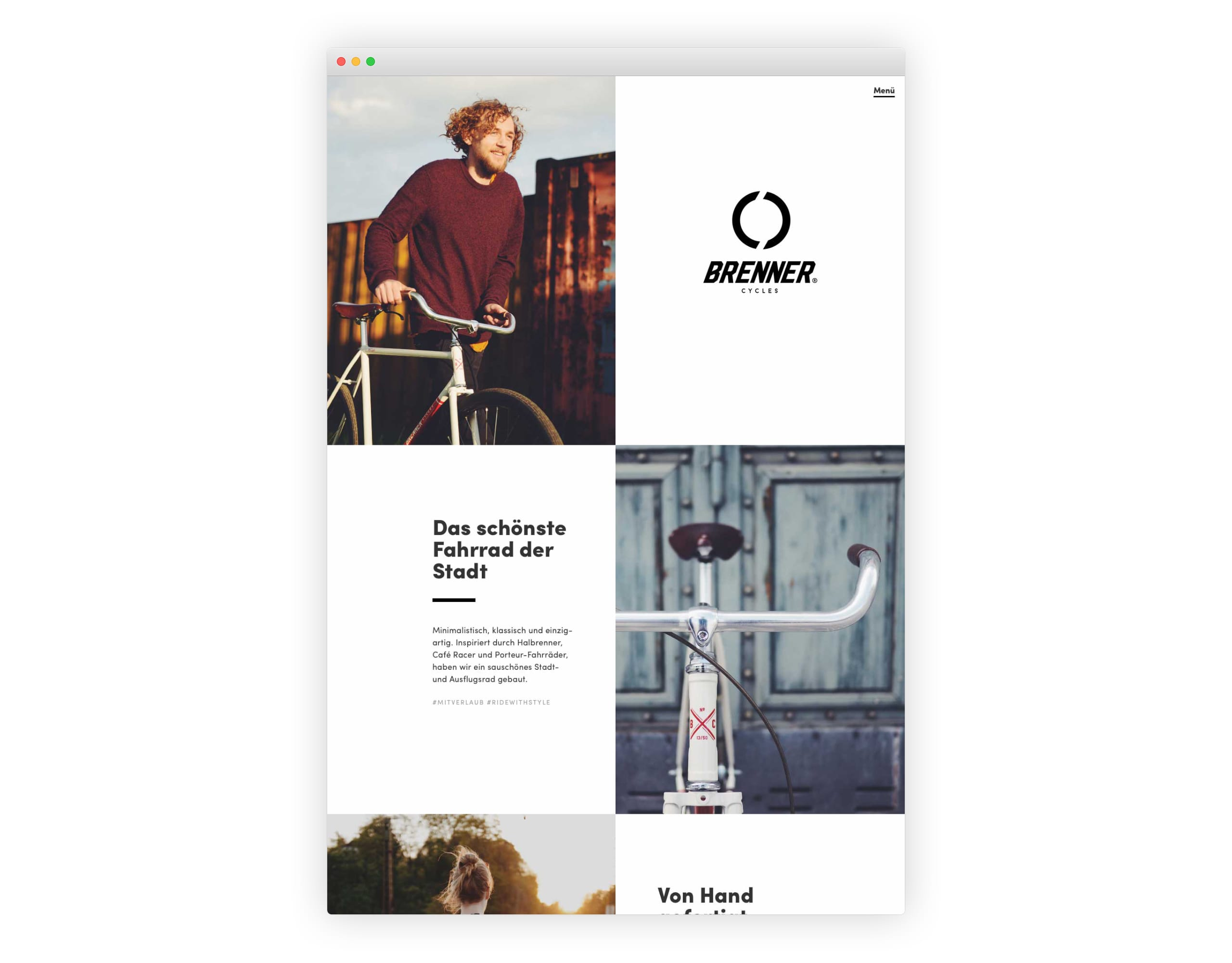 Website with good whitespace