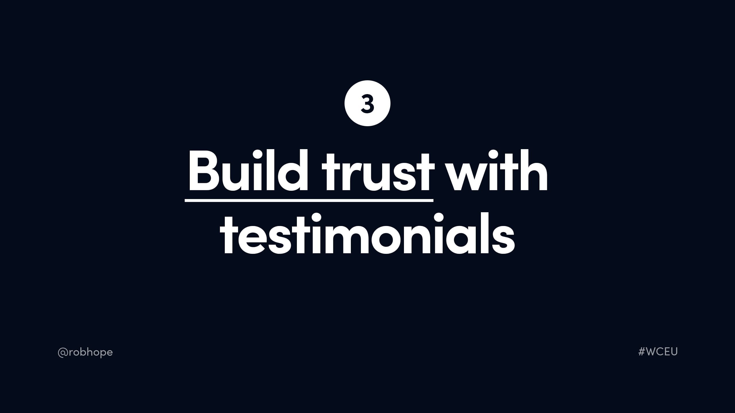Build trust with Testimonials