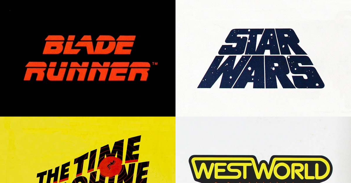 Science Fiction Movie Lettering