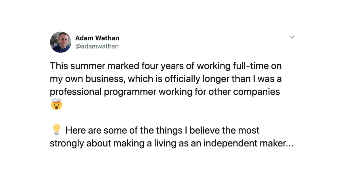 Adam Wathan on making a living as an independent maker