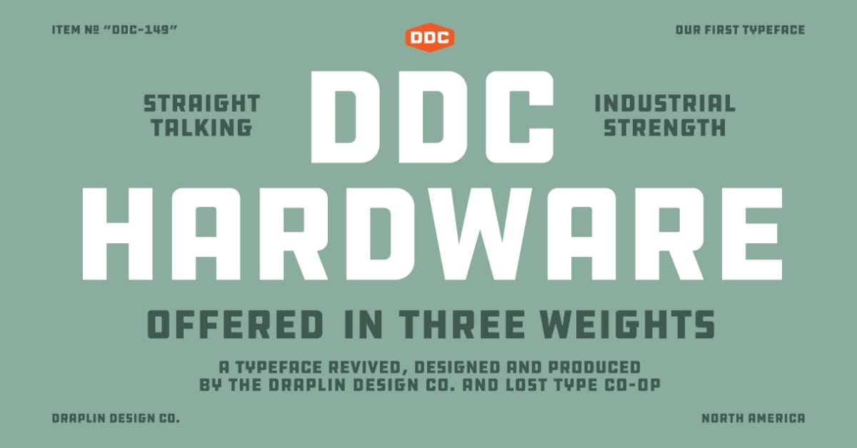 DDC Hardware Typeface