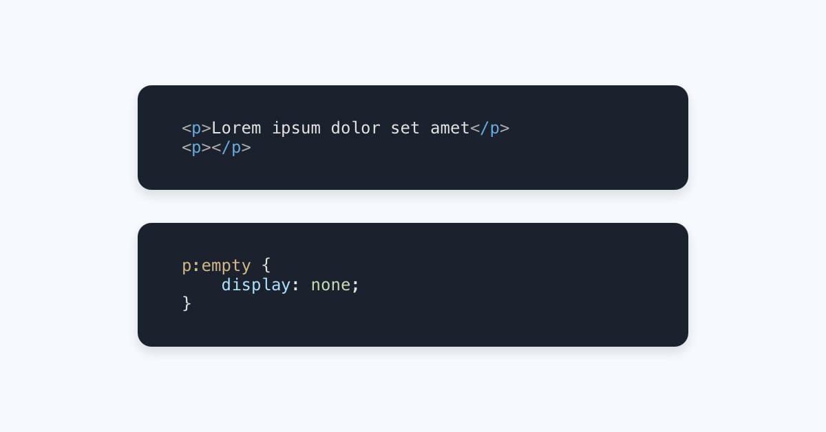 :empty {} Selector