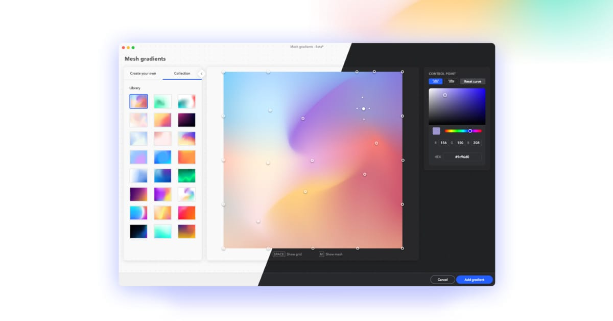 Mesh Gradients for Sketch